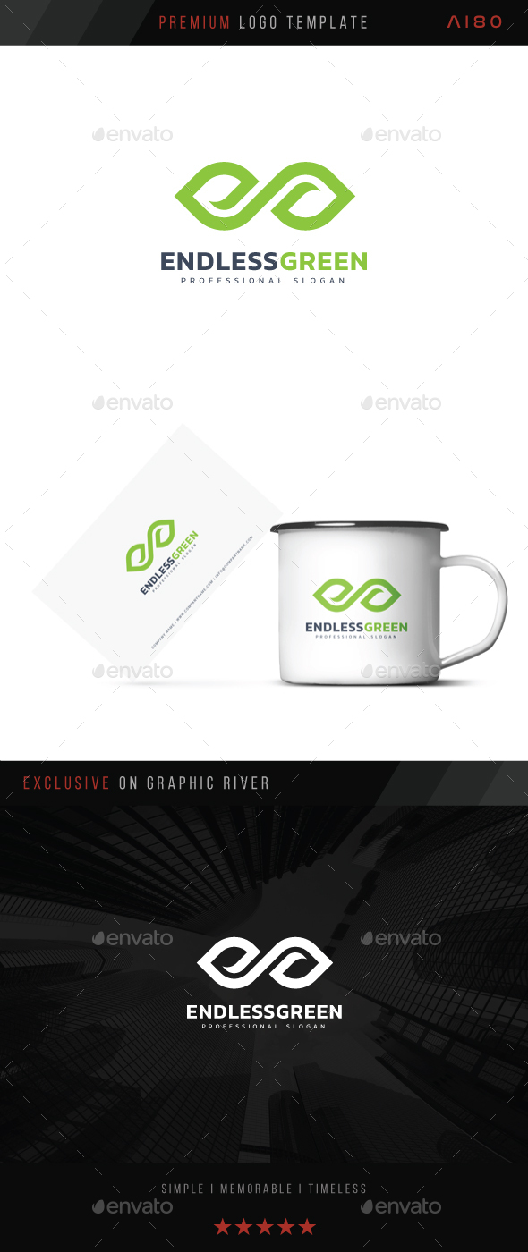 Endless Green Logo - Symbols Logo Templates
