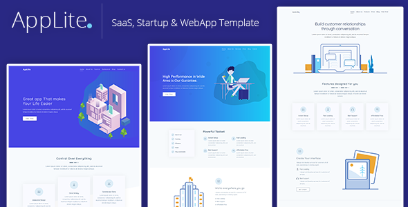 AppLite - Responsive Bootstrap 4 SaaS, Startup & WebApp Template - Technology Site Templates