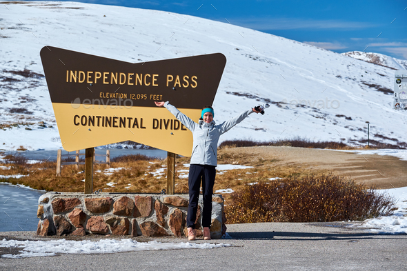 Independence Pass in Rocky Mountains - Stock Photo - Images