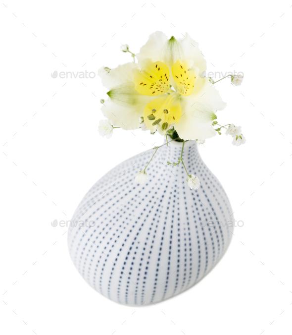 Decorative vase with flowers. - Stock Photo - Images