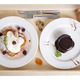 Pancakes with chocolate pudding and juice. - PhotoDune Item for Sale