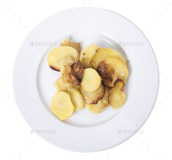 Baked potatoes. - Stock Photo - Images