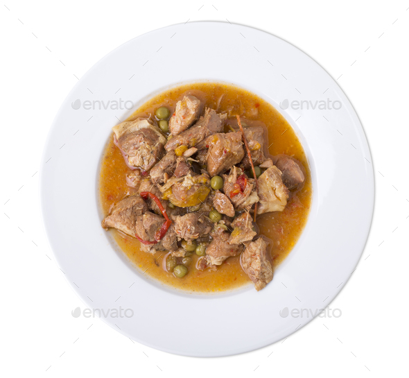 Meat ragout. - Stock Photo - Images