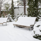 Snow covered yard. - PhotoDune Item for Sale