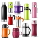 Thermos Vector Vacuum Flask or Bottle