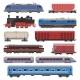Train Vector Railway Transport Locomotive or Wagon