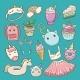 Unicorn Vector Cartoon Kids Accessories