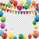Color Glossy Balloons and Confetti on Transparent Background - GraphicRiver Item for Sale