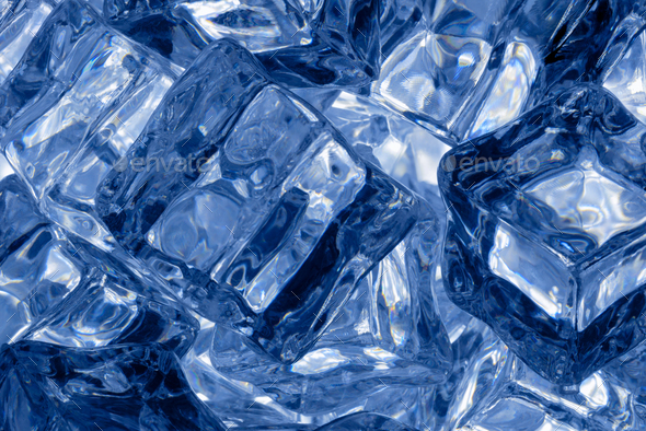 Ice cubes background - Stock Photo - Images