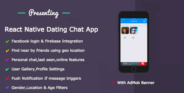 React Native Dating App            Nulled