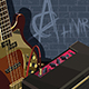 Electric Guitar and Amplifier on a Brick Background - GraphicRiver Item for Sale