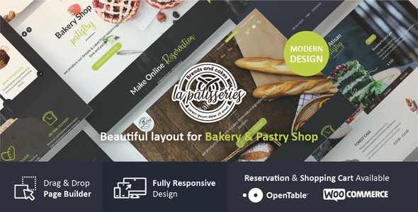 Patistry - Cake & Bakery WordPress Theme - Food Retail