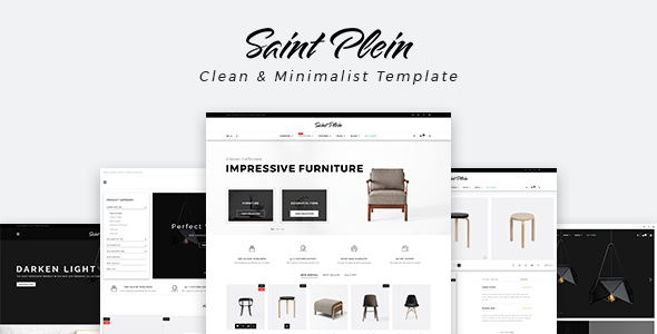 Saint Plein - Mutilpurpose eCommerce PSD Template - Retail PSD Templates