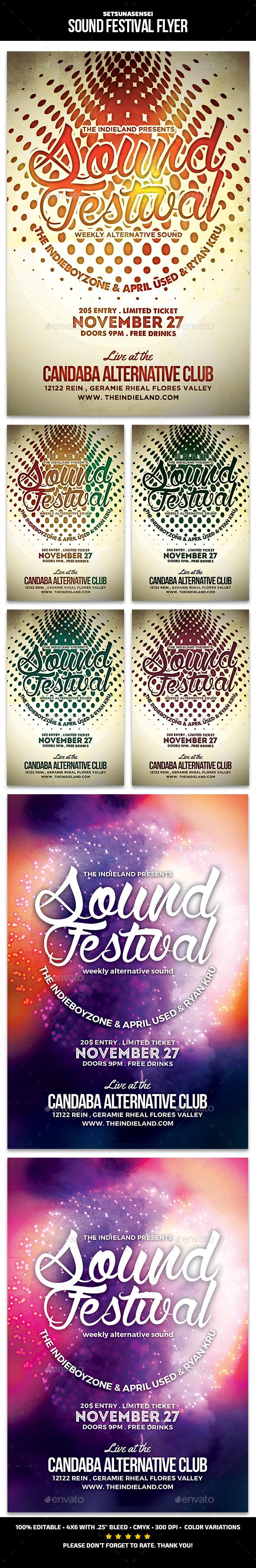 Sound Festival Flyer - Concerts Events