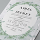 Eucalyptus Wedding Invitati-Graphicriver中文最全的素材分享平台