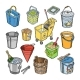 Bucket Vectors - GraphicRiver Item for Sale