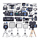 Videographer Equipment in Flat Style - GraphicRiver Item for Sale
