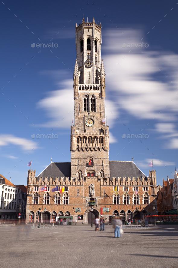 Belfry In Bruges, Belgium - Stock Photo - Images