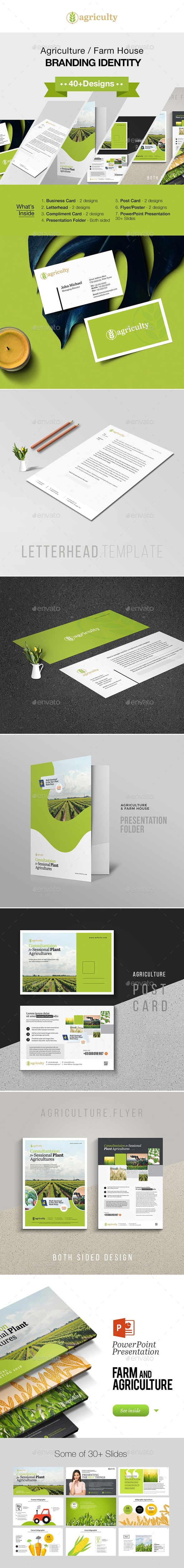 Agriculture Farm House Branding Identity - Stationery Print Templates