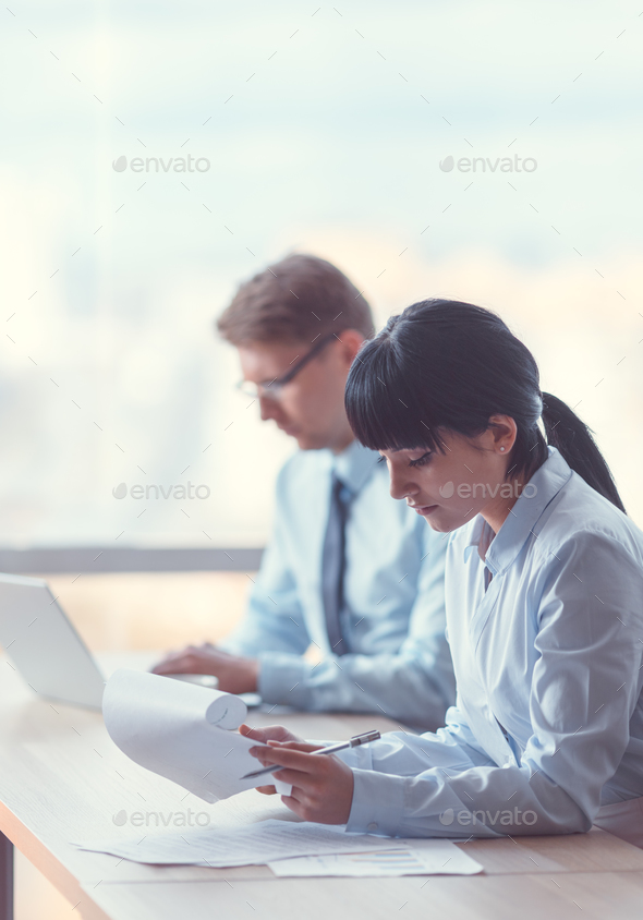 Working business people - Stock Photo - Images