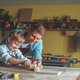 Father and son in carpentry - PhotoDune Item for Sale