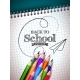 Back To School Design with Colorful Pencils