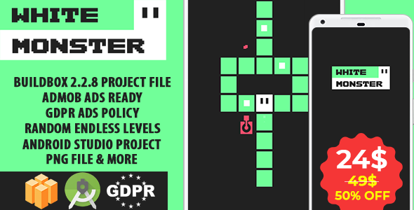 White Monster Buildbox with GDPR: Android Game            Nulled