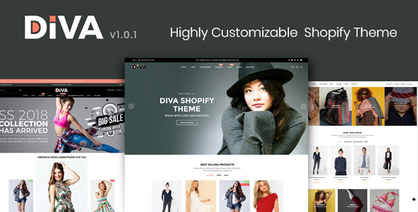 Diva - Minimal and Modern Shopify Theme - Fashion Shopify