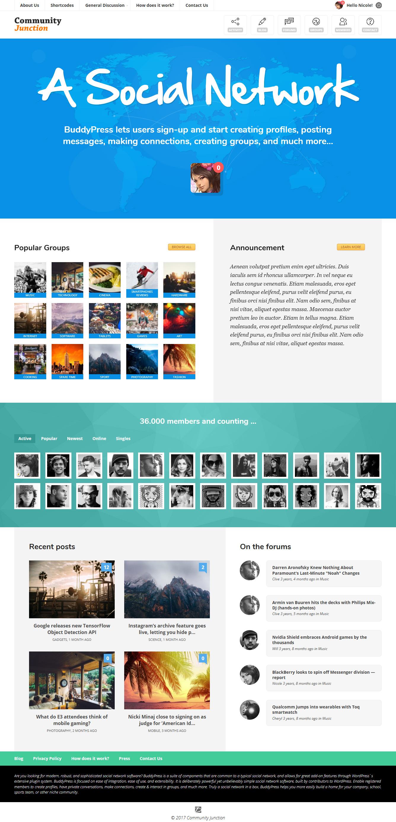 CommunityJunction - BuddyPress Theme by Diabolique | ThemeForest