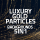 Luxury Gold Particles Backgrounds 5in1 - VideoHive Item for Sale