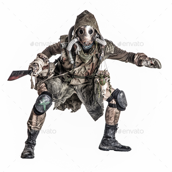 Grimy mutant creature of nuclear apocalypse world - Stock Photo - Images