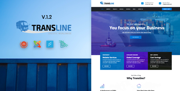 Transline - Transport, Logistics Joomla Template - Business Corporate