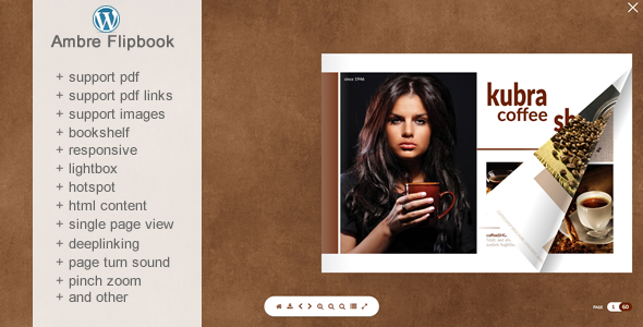 Flipbook WordPress Plugin Ambre            Nulled