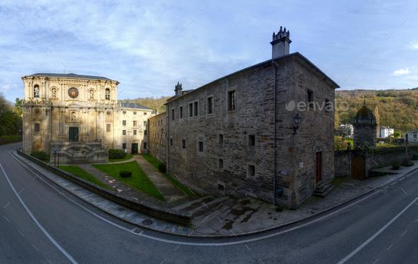 Benedictine monastery of St Julian of Samos - Stock Photo - Images