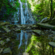The waterfall of Vilagocende and its reflection in a pond - PhotoDune Item for Sale