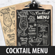 Cocktail Drink Menu - GraphicRiver Item for Sale