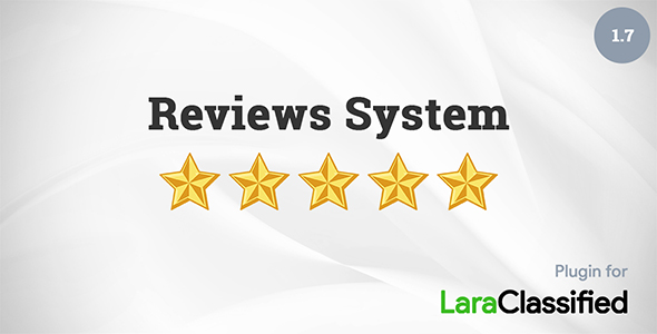 Reviews System add-on for LaraClassified - CodeCanyon Item for Sale