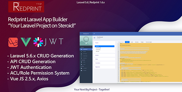 Redprint Laravel App Builder CRUD Generator Plus - CodeCanyon Item for Sale