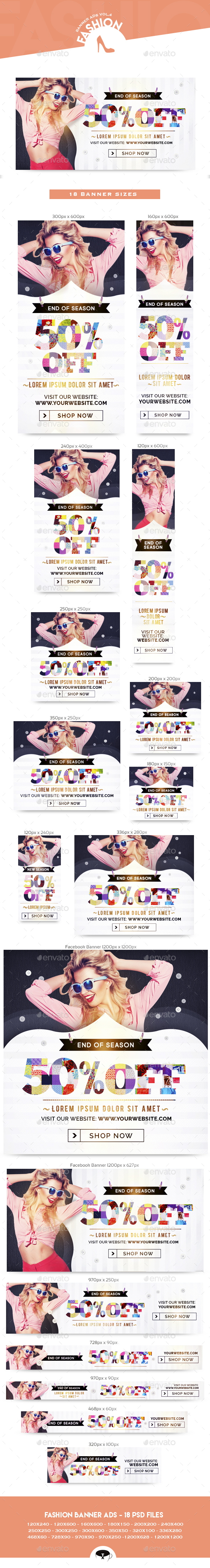 Fashion Banner Ads Vol.3 - Banners & Ads Web Elements
