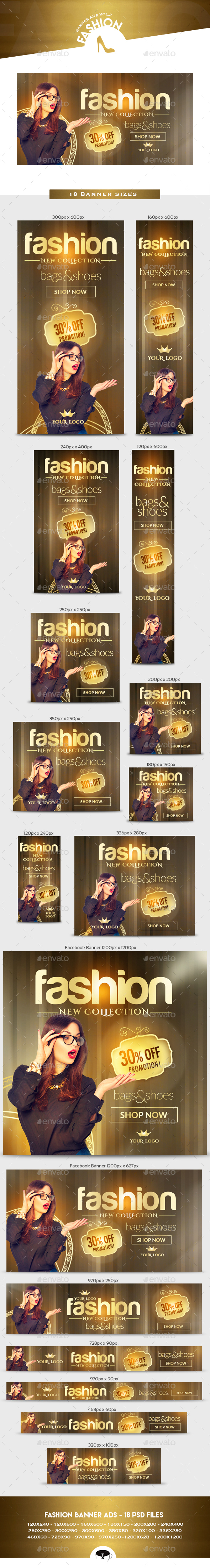 Fashion Banner Ads Vol.2 - Banners & Ads Web Elements