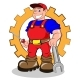 Smiling Mechanic Man - GraphicRiver Item for Sale