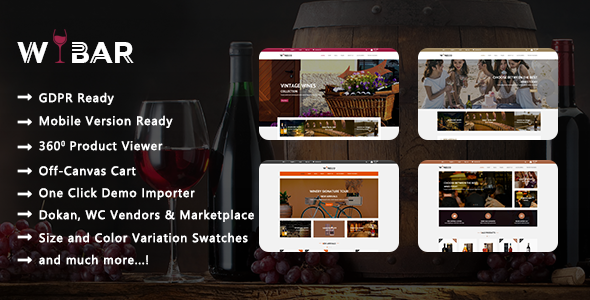 Wibar - Wine, Winery and Vineyard WooCommerce WordPress Theme