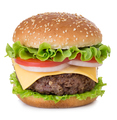 American big delicious classic burger isolated on white background. - PhotoDune Item for Sale