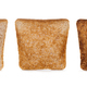 Three slices toast bread isolated on white background. - PhotoDune Item for Sale