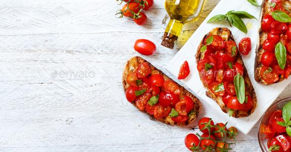 Homemade Italian Bruschetta - Stock Photo - Images