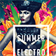 Summer Electro Festival Album CD Cover - GraphicRiver Item for Sale
