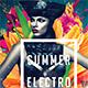 Summer Electro Festival Album CD Cover - GraphicRiver Item for Sale