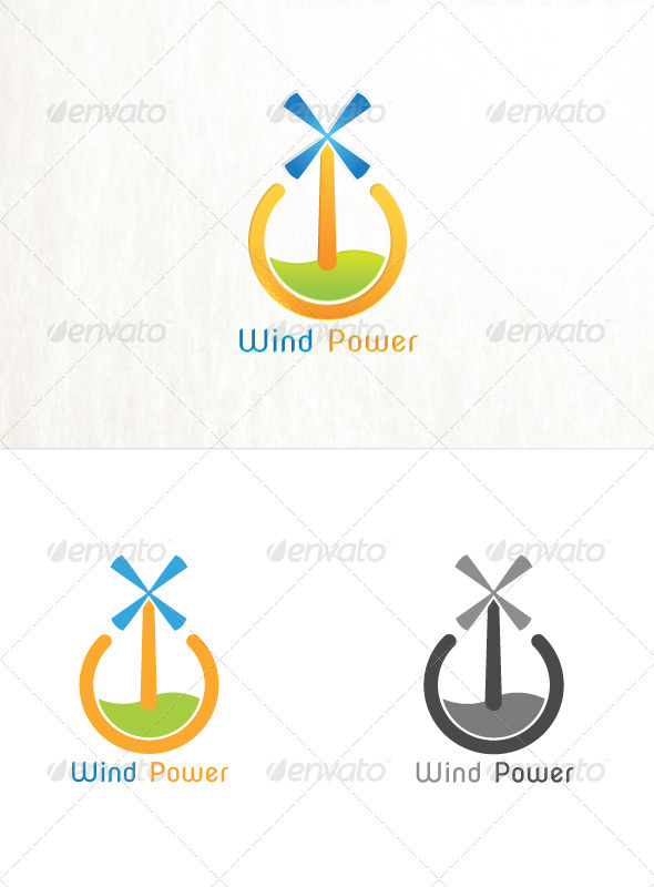 Wind Power - Symbols Logo Templates