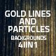 Gold Lines and Particles Backgrounds 4in1 - VideoHive Item for Sale
