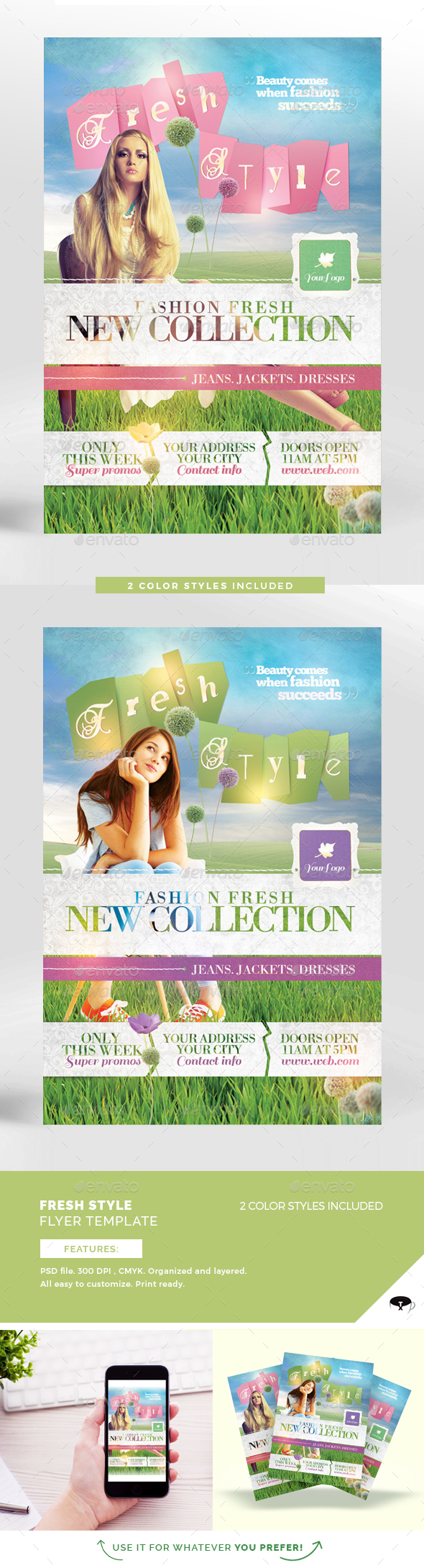 Fresh Style Flyer Template - Flyers Print Templates